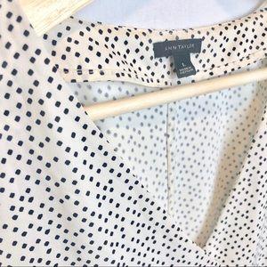 Ann Taylor Blouse White with Black dots